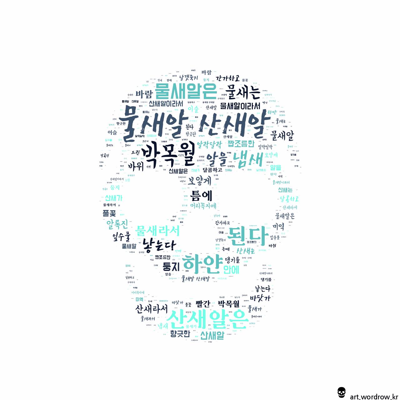 워드 클라우드: 물새알 산새알 [박목월]-6